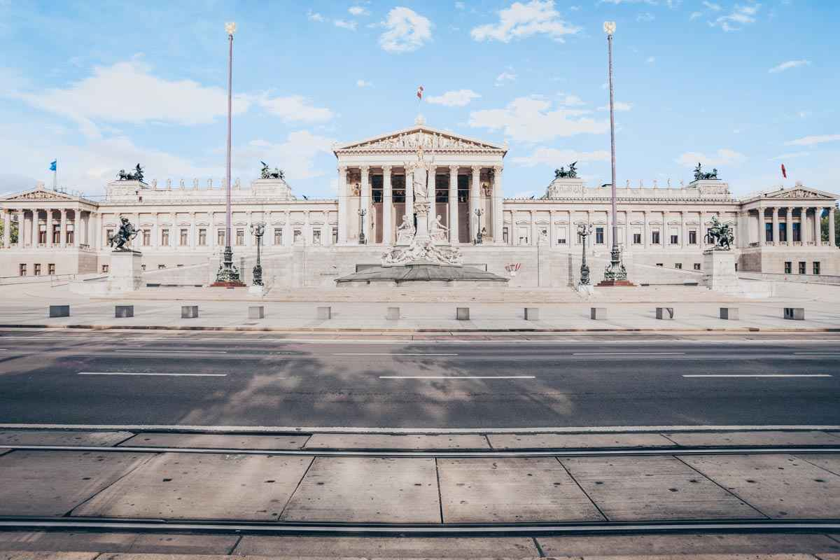 Things to see in Vienna: The Neoclassical-style building of the Austrian Parliament