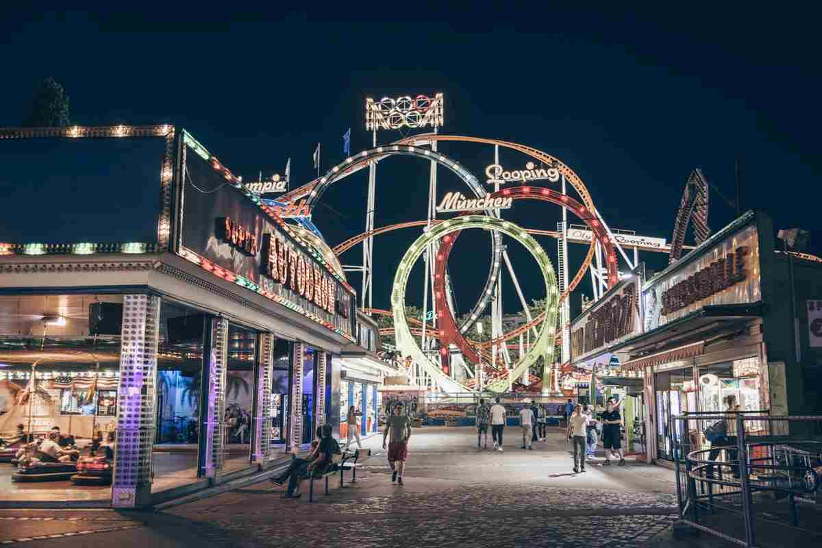 Rollercoasters and gaming arcades of the Prater Amusement Park in Vienna. PC: Photo Oz/shutterstock.com