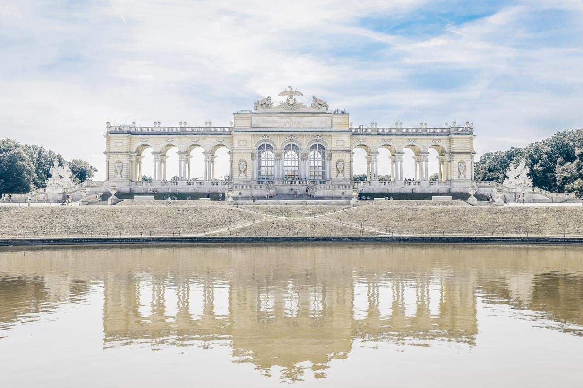 The Neoclassical-style Schönbrunn Palace Gloriette