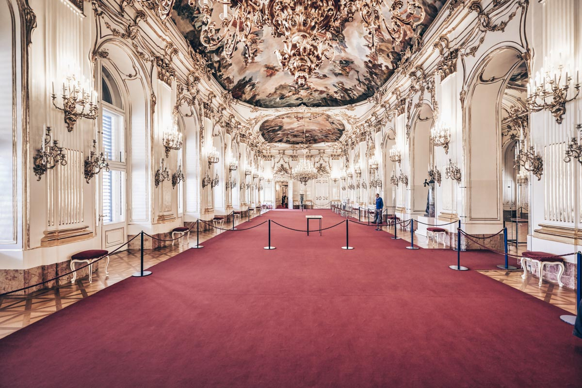 The richly embellished Great Gallery of the Schönbrunn Palace in Vienna. PC: Marco Brivio - Dreamstime.com