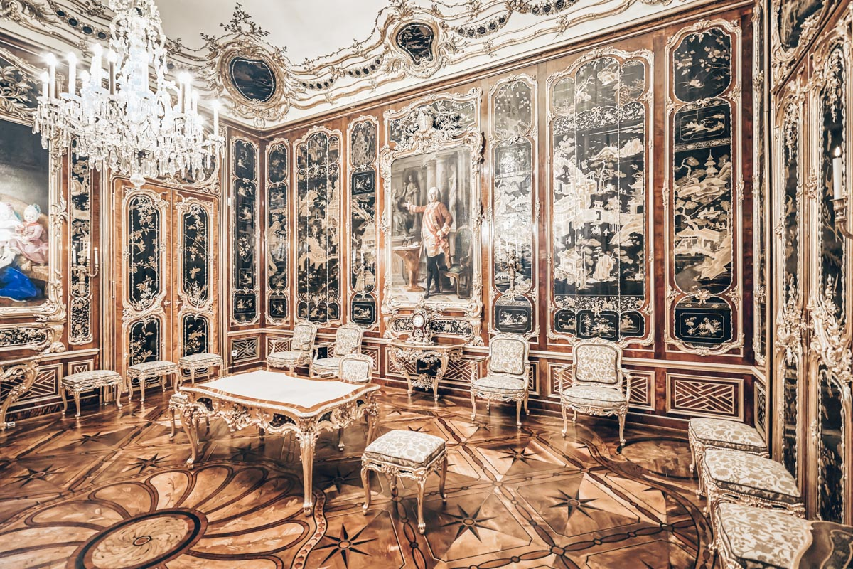 The glistening interior of the the Vieux-Laque Room of Schönbrunn Palace in Vienna. PC: Marco Brivio - Dreamstime.com