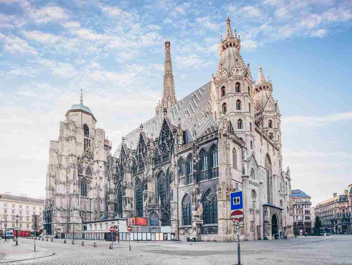 The marvelous exterior of the majestic St. Stephen's Cathedral (Stephansdom) in Vienna