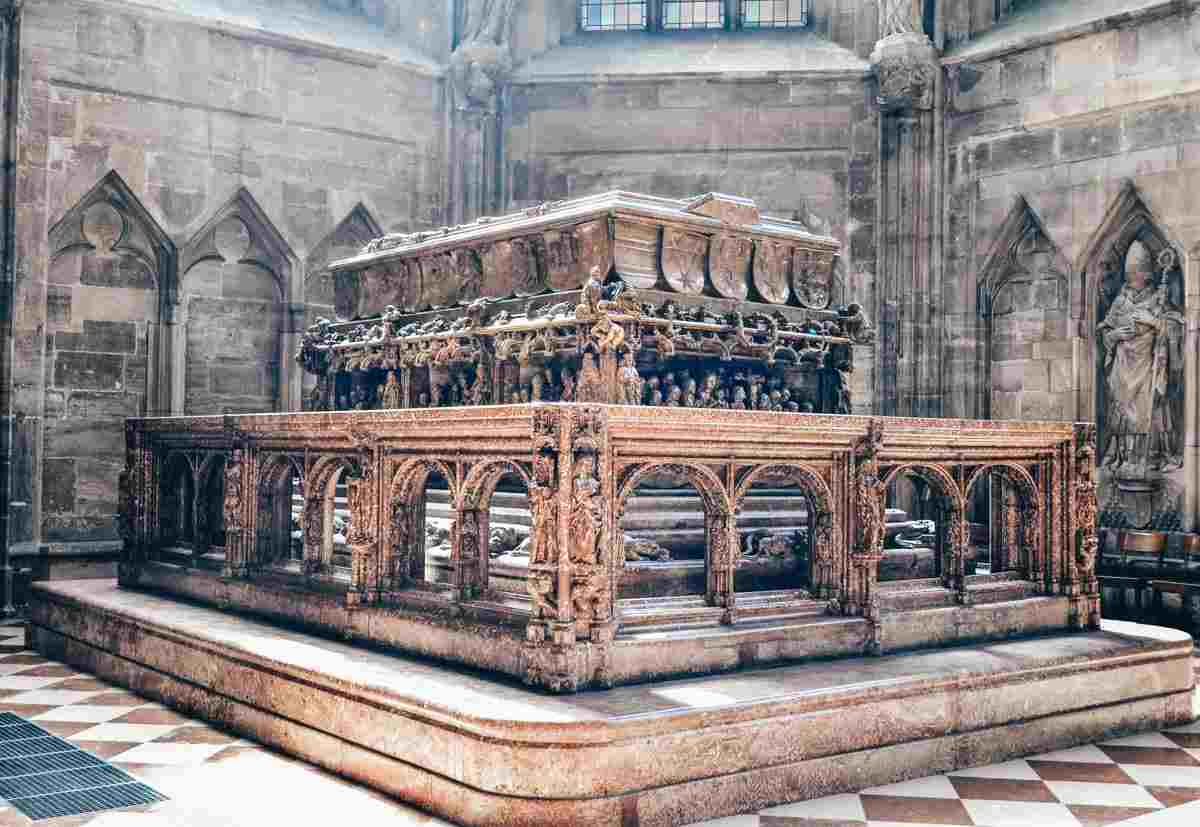 The magnificently sculpted Renaissance tomb of Emperor Frederick III in St. Stephen's Cathedral in Vienna