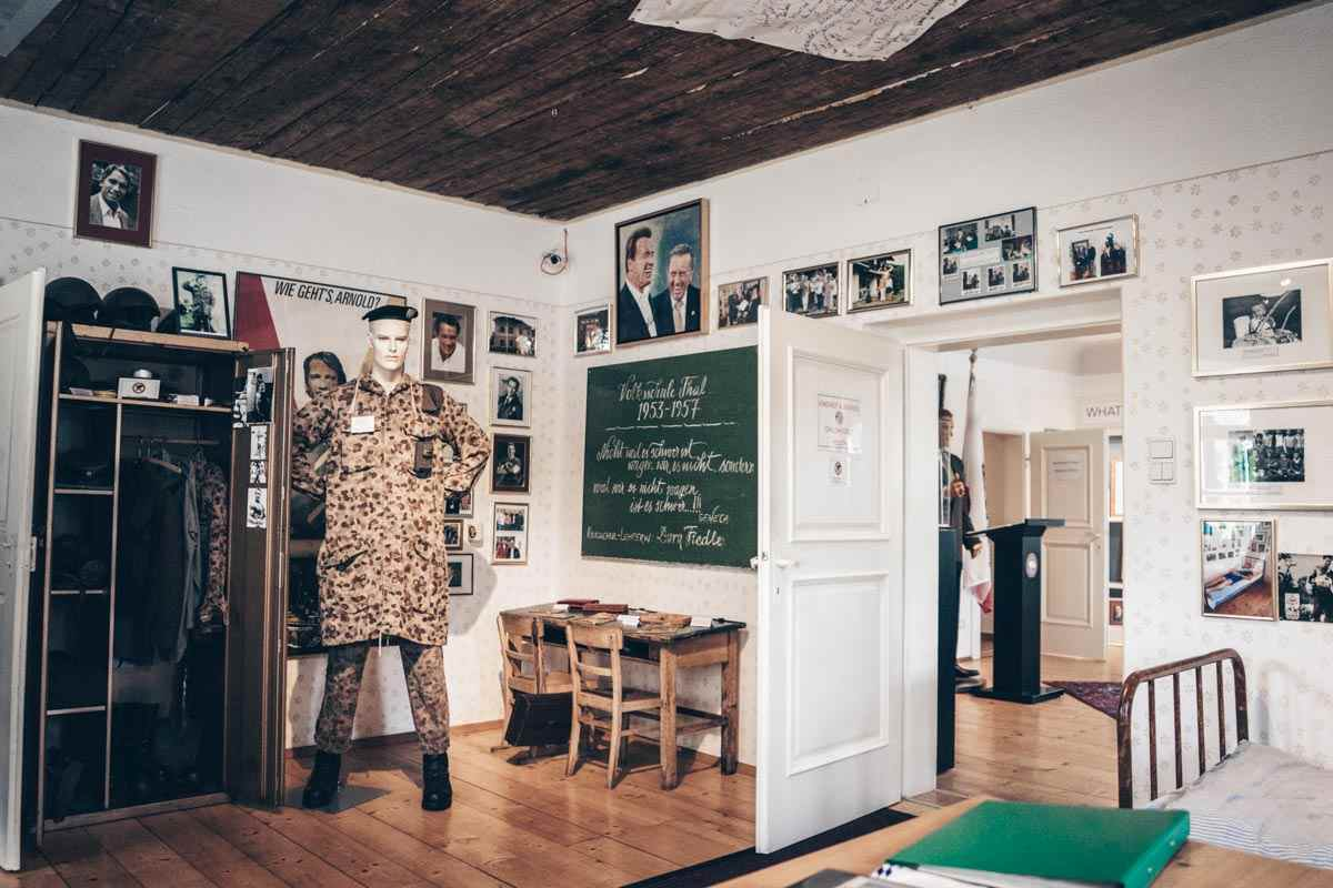Day Trips from Graz: Interior of Arnie's bedroom at the Schwarzenegger Museum