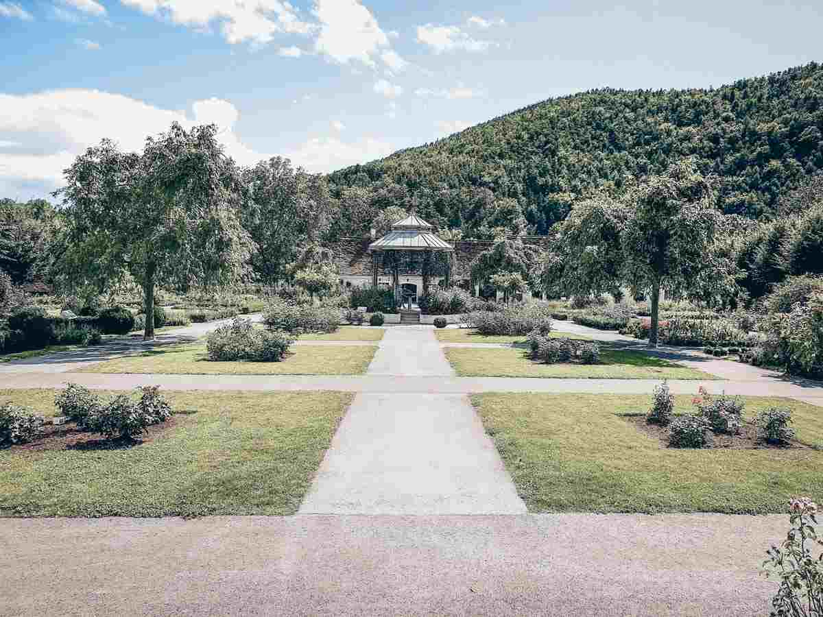 Day Trips from Graz. The glorious landscaped gardens of Herberstein Castle