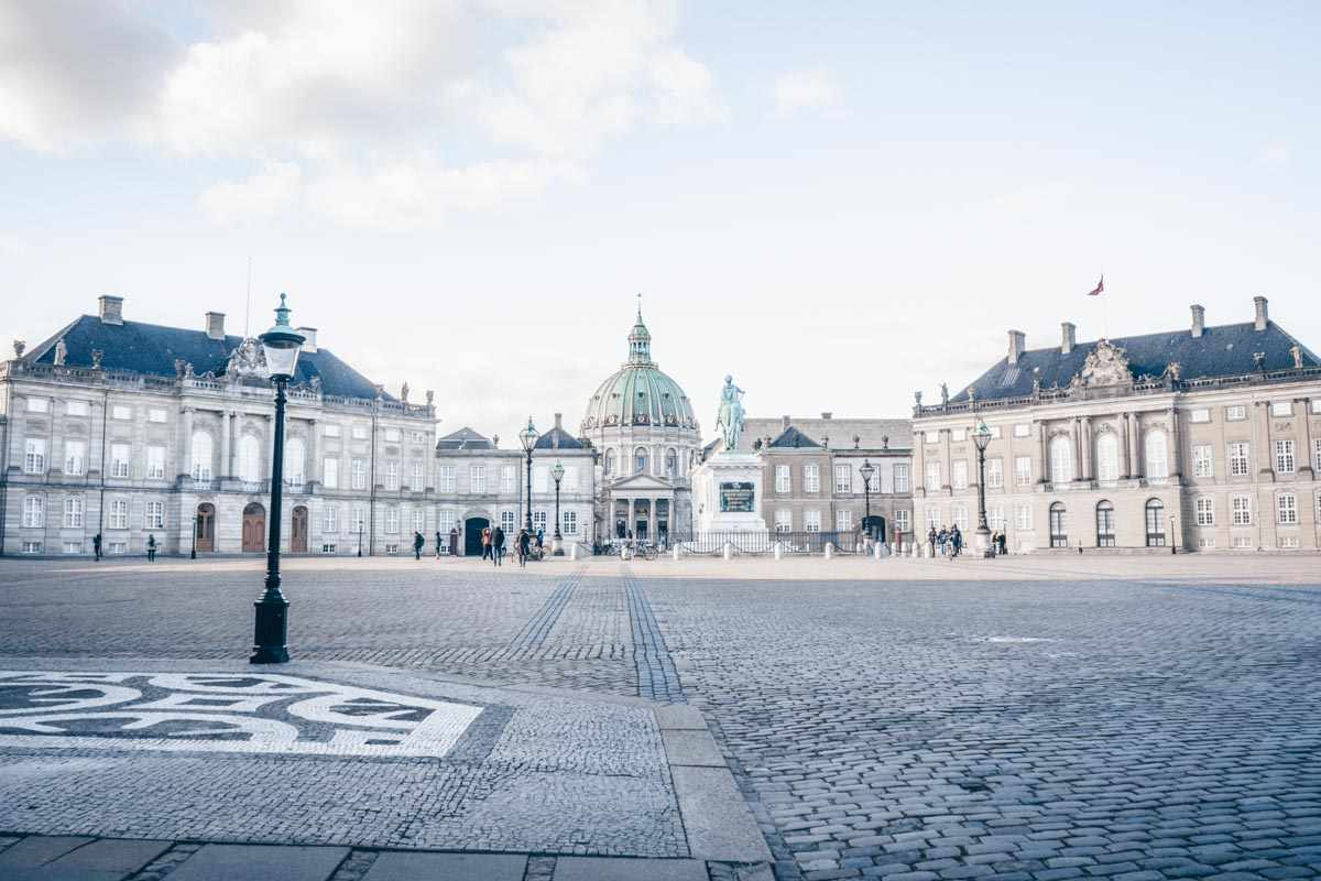 Copenhagen attractions: Exterior of the Amalienborg Palace complex