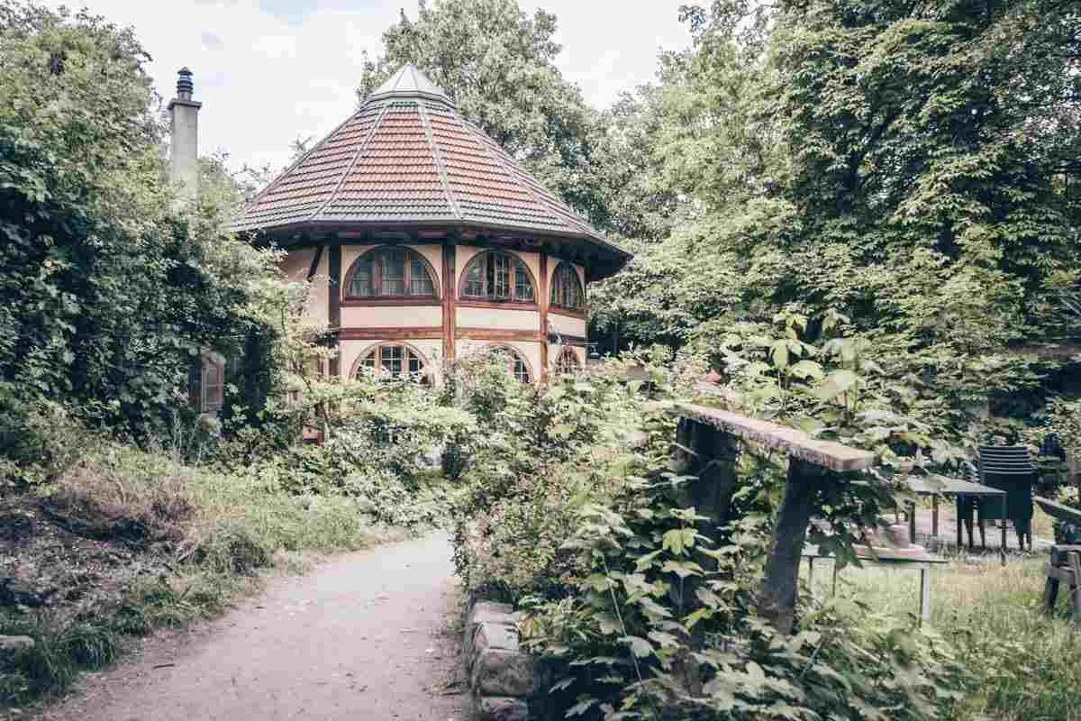 Interesting architecture of a house at Christiania in Copenhagen
