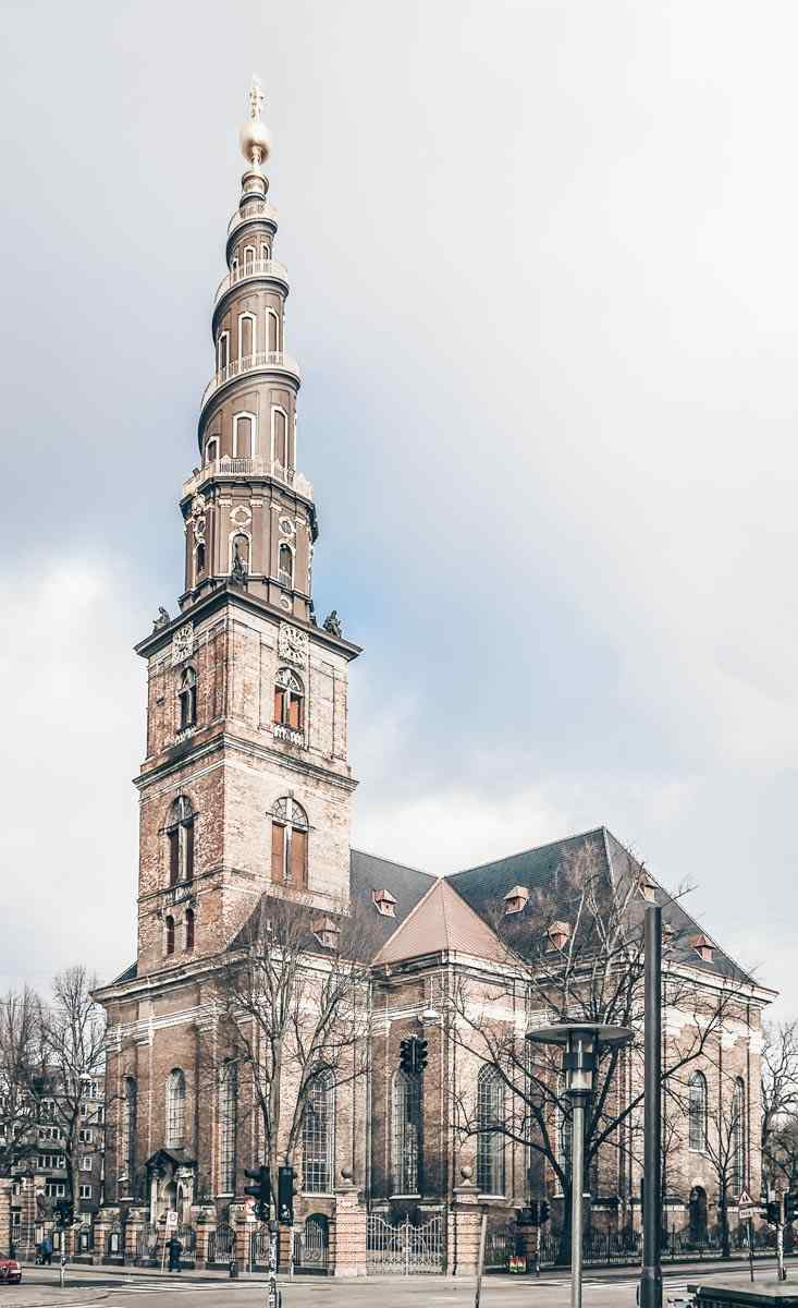 Copenhagen attractions: Exterior of the Church of Our Saviour