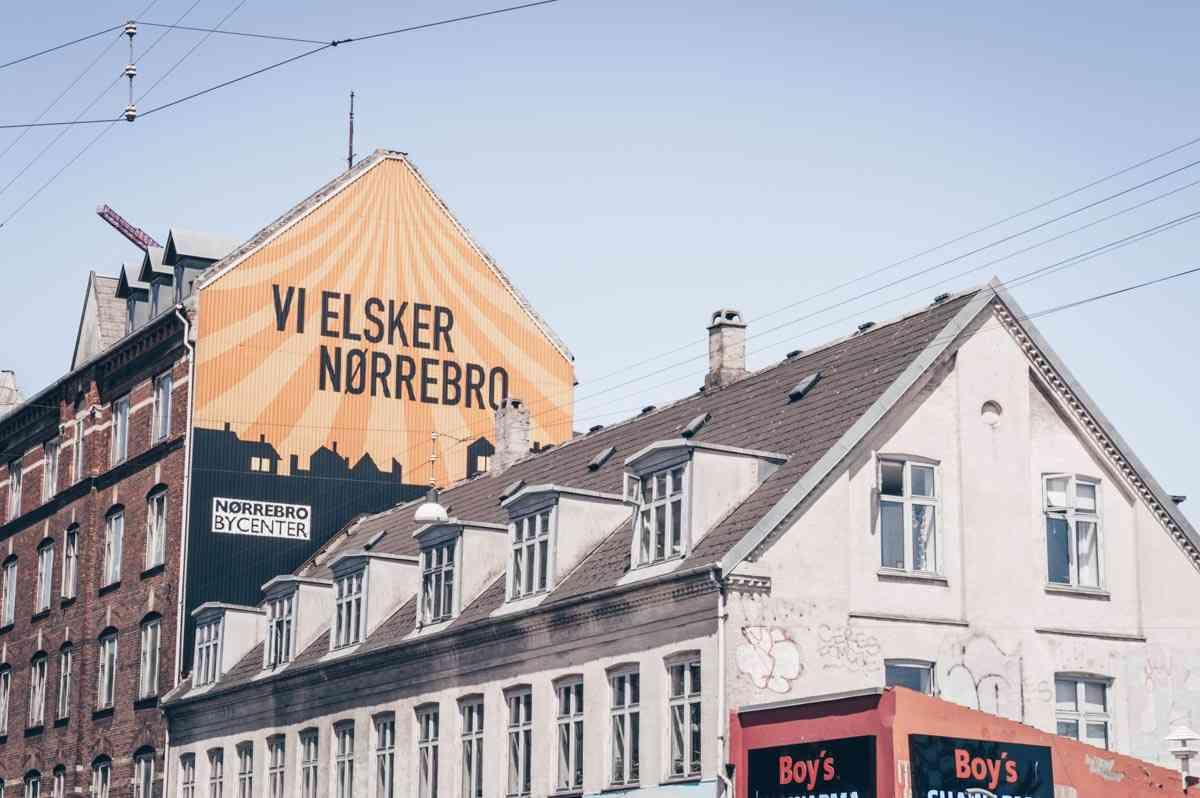 Street art in Nørrebro district of Copenhagen