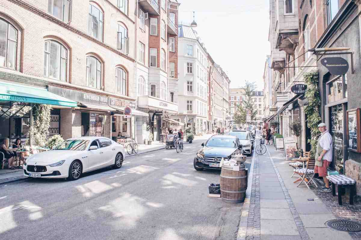 Things to see in Copenhagen: Street scene on the cute little street of Værnedamsvej in Vesterbro