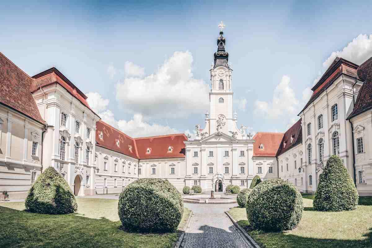 Abbeys in Austria: Exterior of the splendid Altenburg Abbey