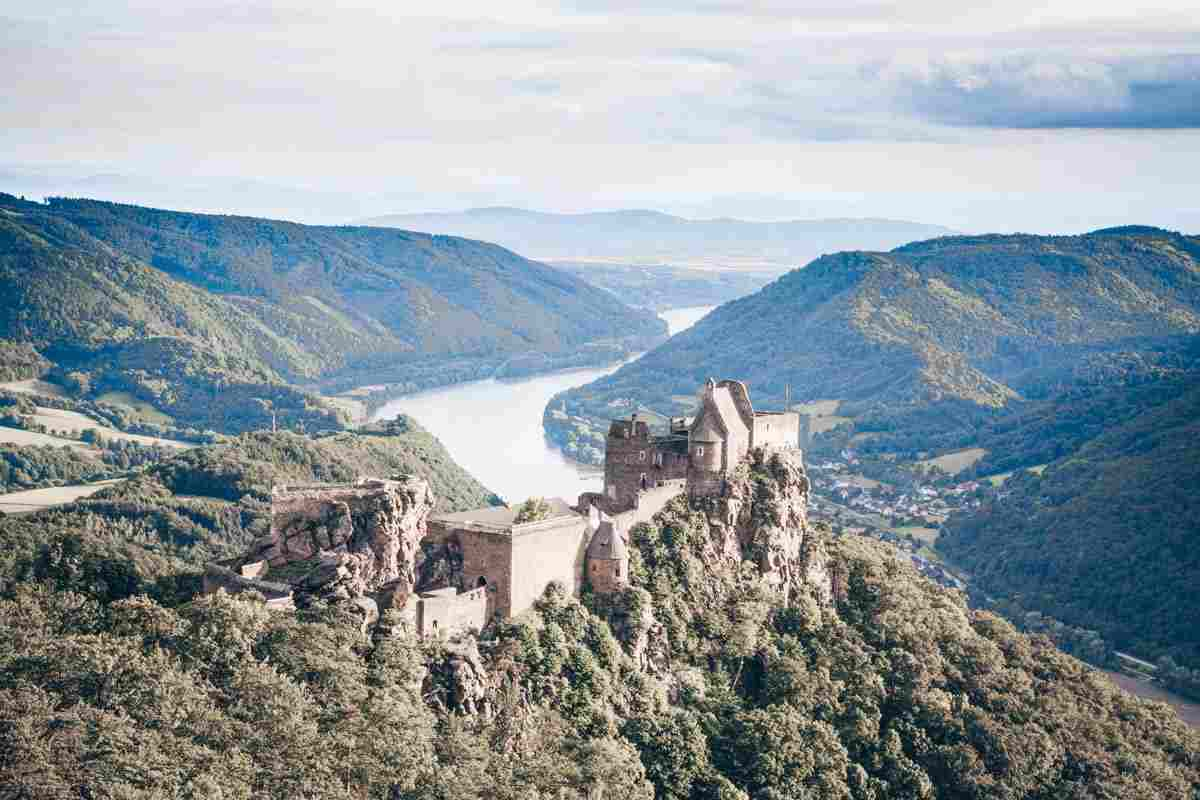 Must-see places in Austria: The 12th-century hilltop Aggstein Castle
