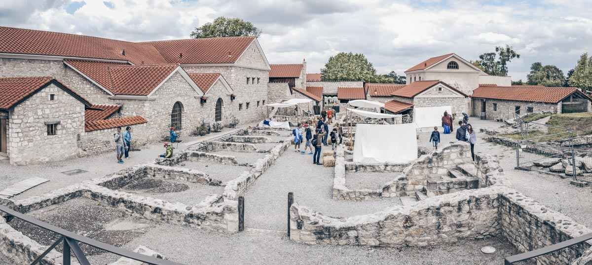 People checking out Roman ruins at Carnuntum Archaeological Park. PC: lbrix/shutterstock.com