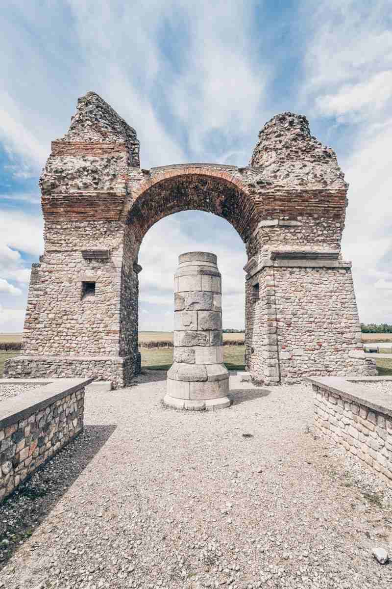 The gargantuan Heathen's Gate gateway at Carnuntum Archaeological Park