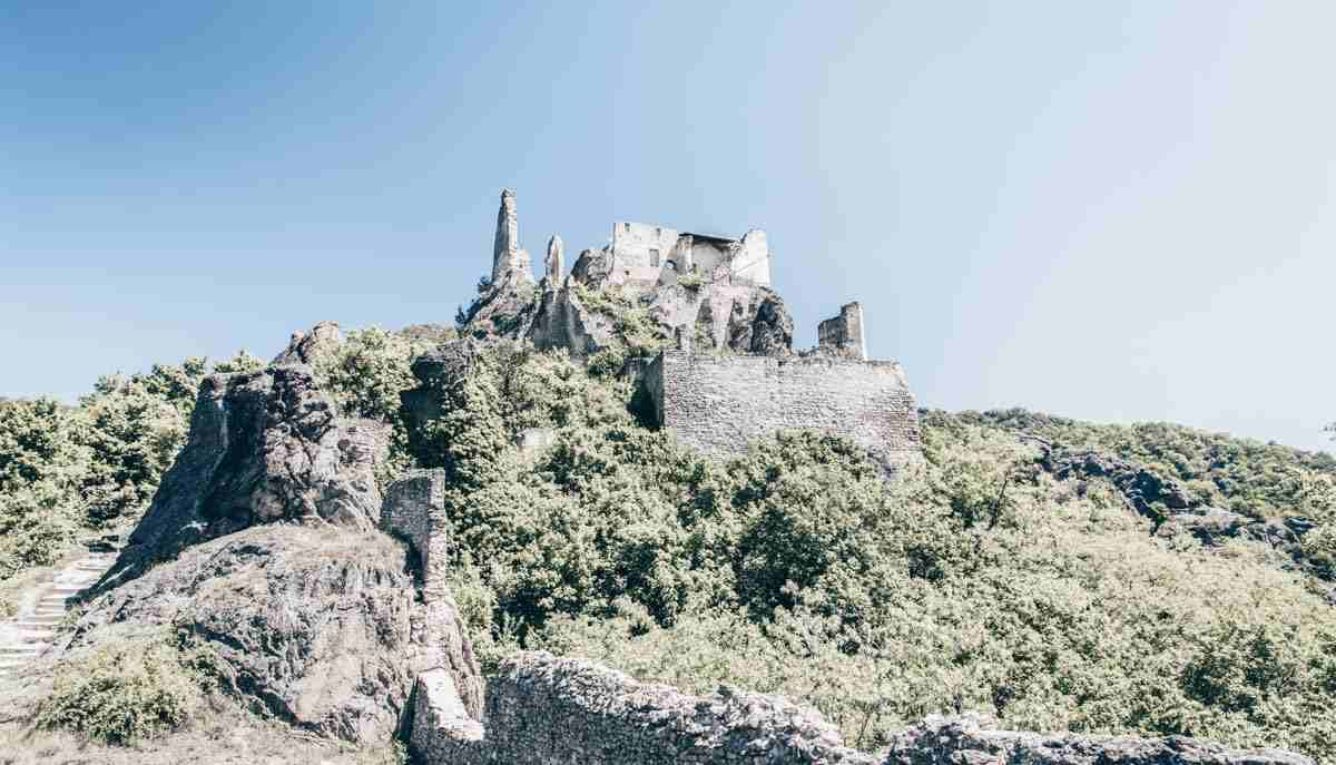The ruins of the Kuenringer Castle of Dürnstein