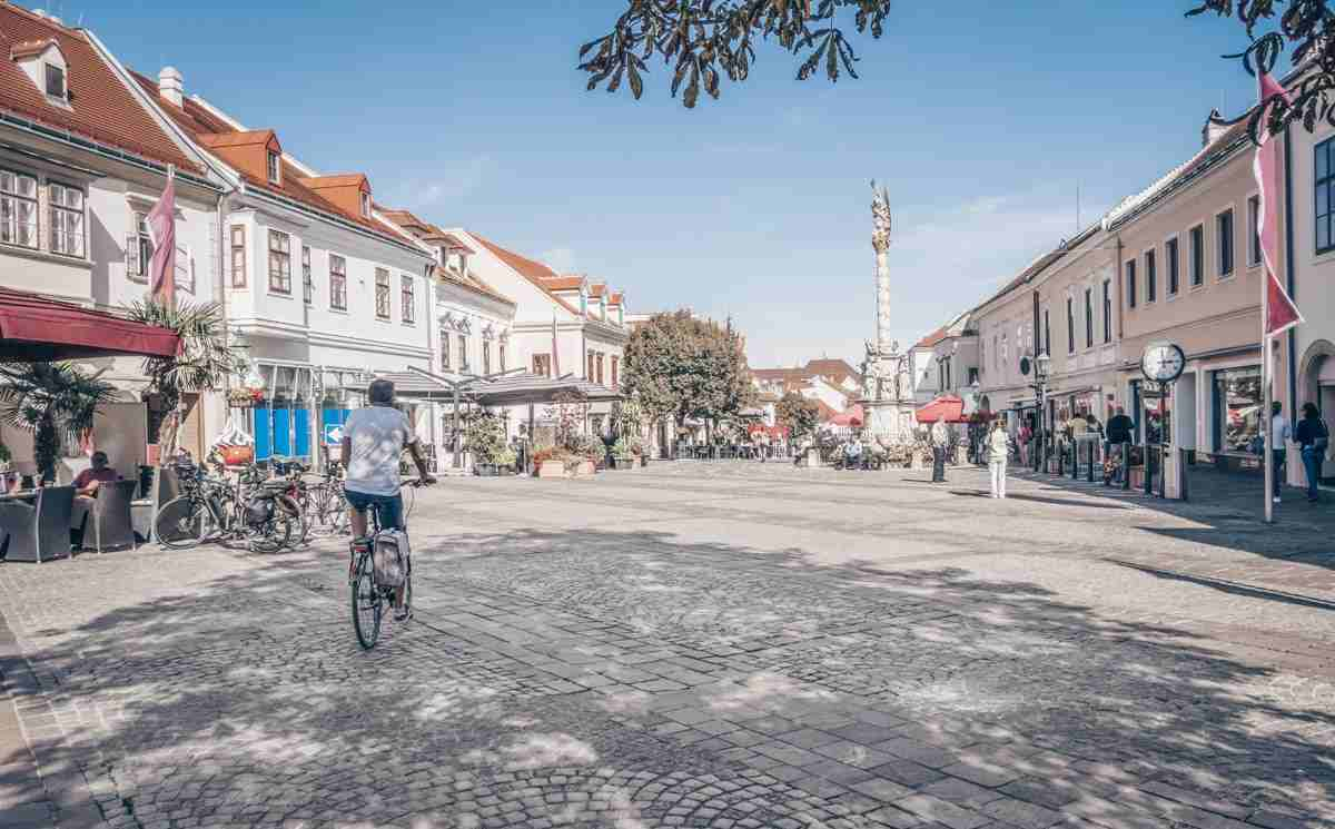People in the Old Town of Eisenstadt. PC: Prillfoto - Dreamstime.com