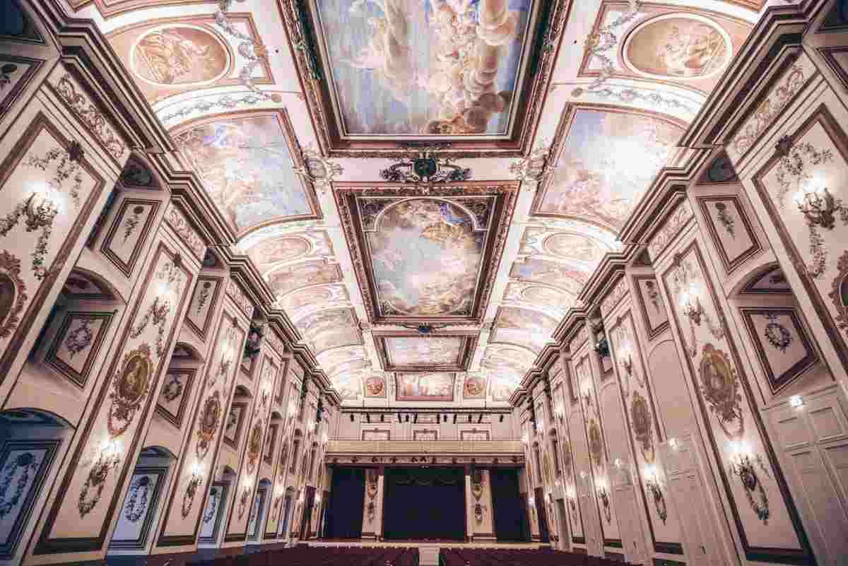 The spectacularly frescoed Haydn Hall of Esterhazy Palace. PC: Tpgjeff - Dreamstime.com