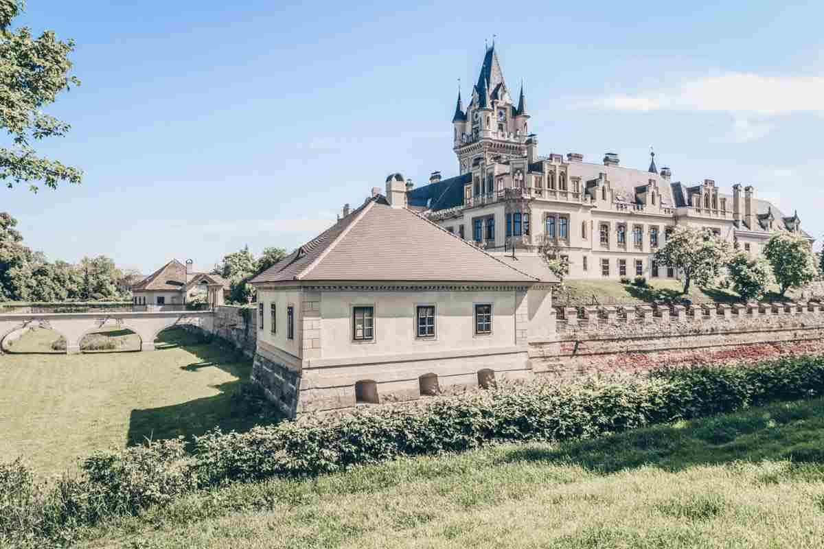 Castles in Austria: Enchanting Neo-Gothic exterior of the Grafenegg Castle