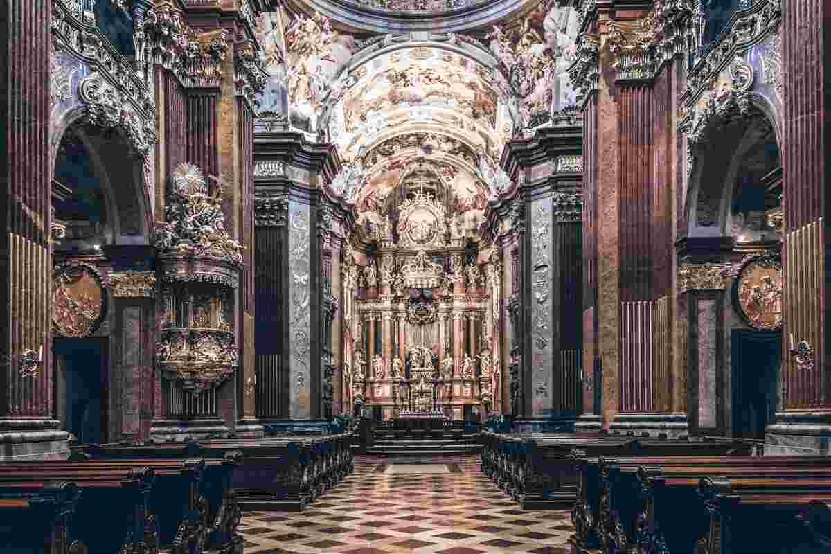 The ornate Baroque interior of the Melk Abbey Church. PC: Steve Allen - Dreamstime.com