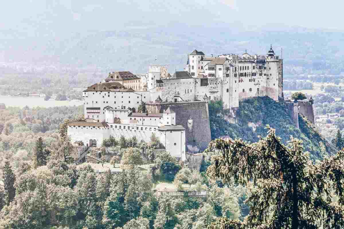 Salzburg attractions: View of the mighty Hohensalzburg Fortress