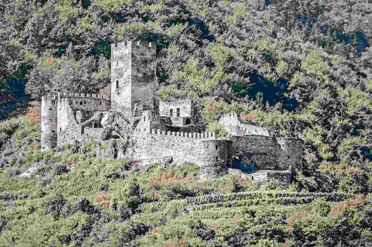 Danube River Valley: Ruins of Hinterhaus Castle in Spitz an der Donau