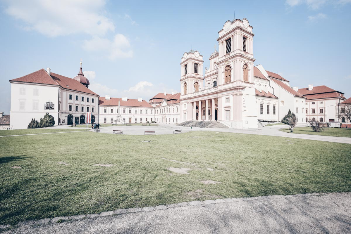 Abbeys in Austria: Exterior of the Benedictine Göttweig Abbey