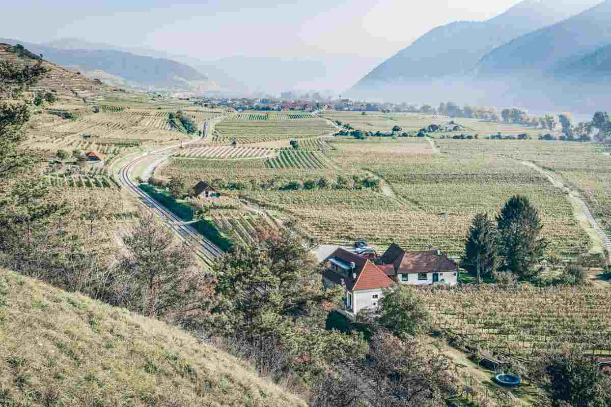 Places to see in Austria: Fertile plains, rolling hills, and vineyards of the Wachau Valley