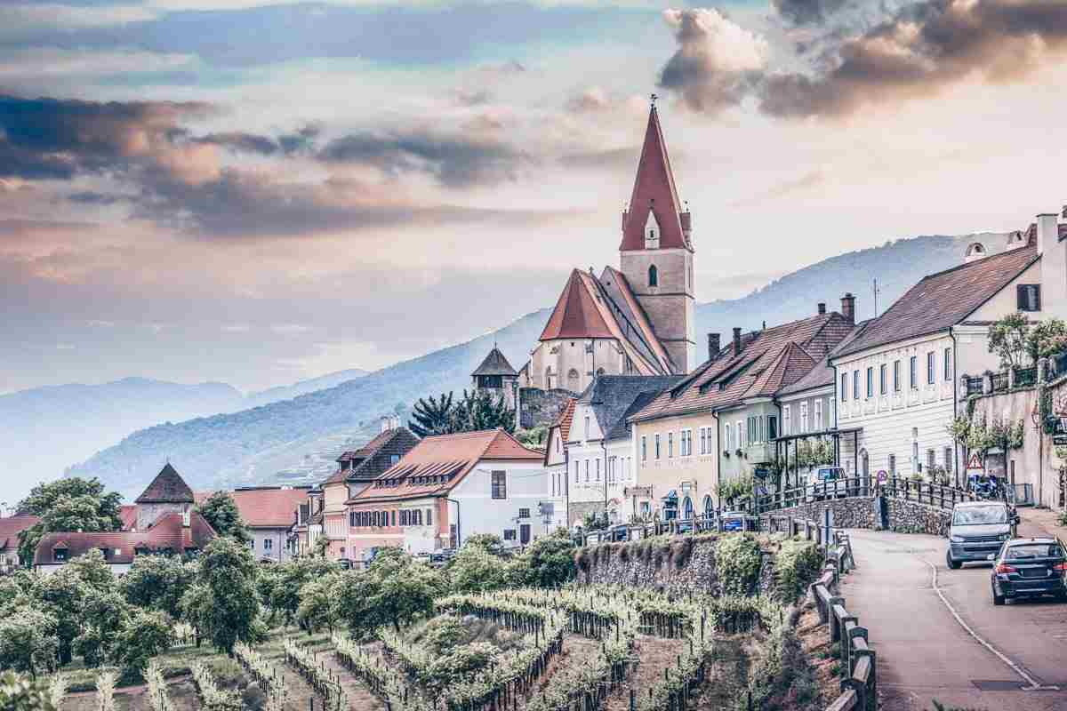 Wachau Valley: The Gothic Parish Church in the town of Weissenkirchen