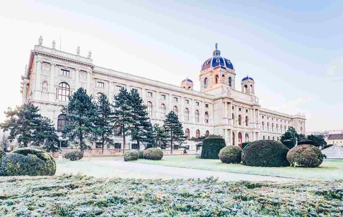 The exquisite Neoclassical building of the Art History Museum in Vienna