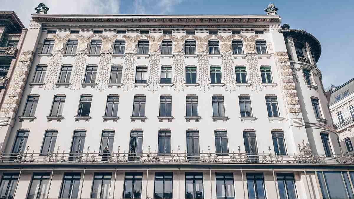 The lovely Secessionist-style Wagner Apartments in Vienna