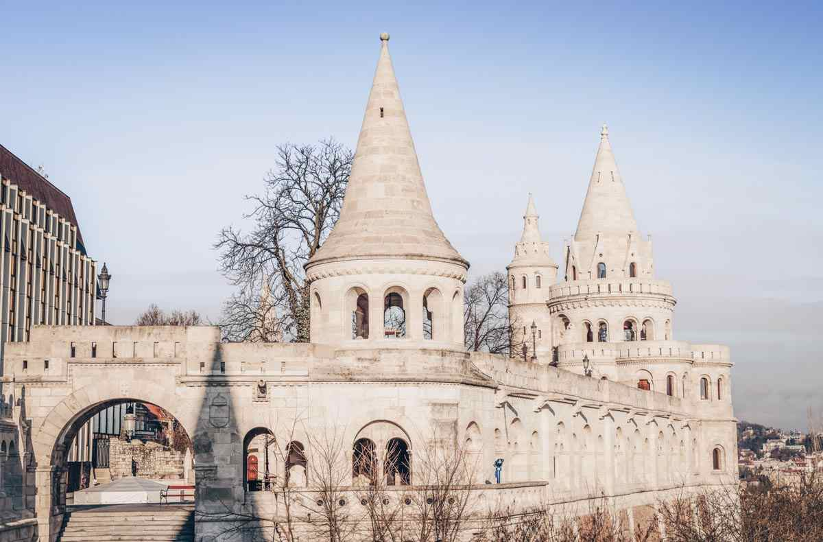 The picturesque towers and turrets of the Fisherman's Bastion viewing terrace