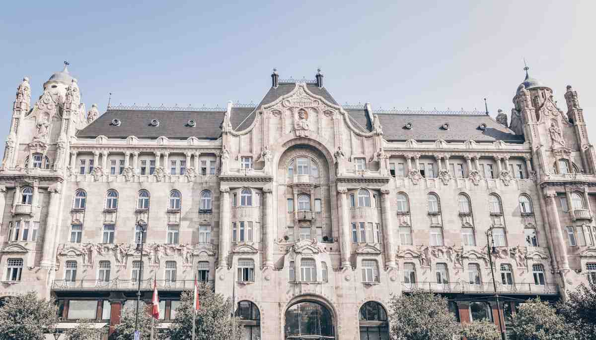 Budapest attractions: The spectacular Gresham Palace, an elegant Art Nouveau building