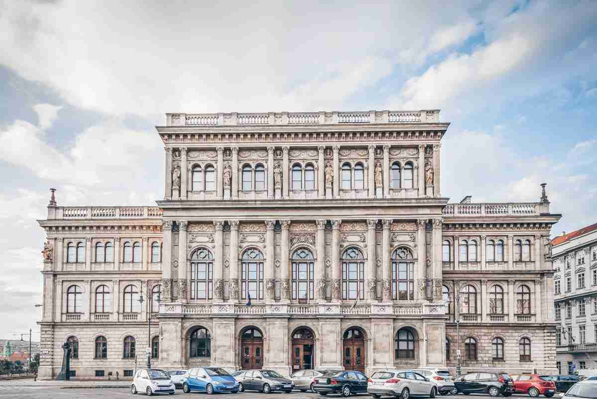 The beautiful Neo-Renaissance building of the Hungarian Academy of Sciences