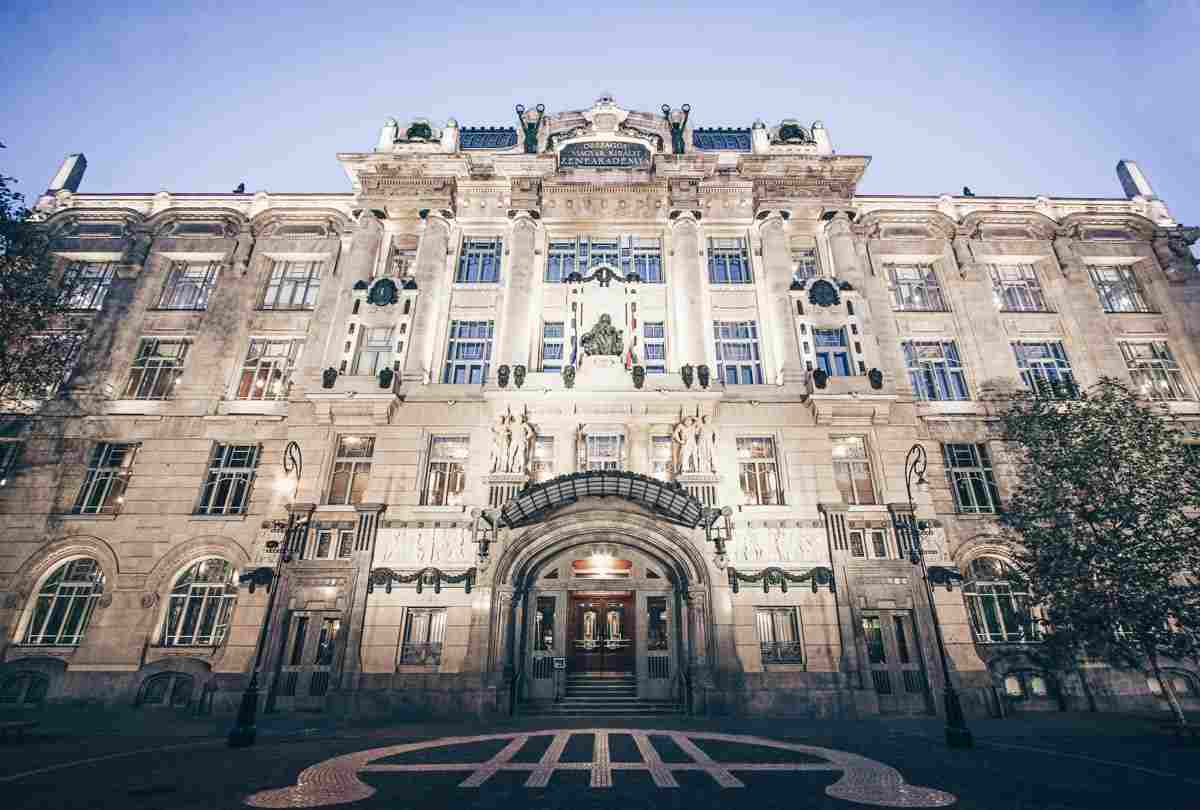 The remarkable Art Nouveau building of the Liszt Academy of Music