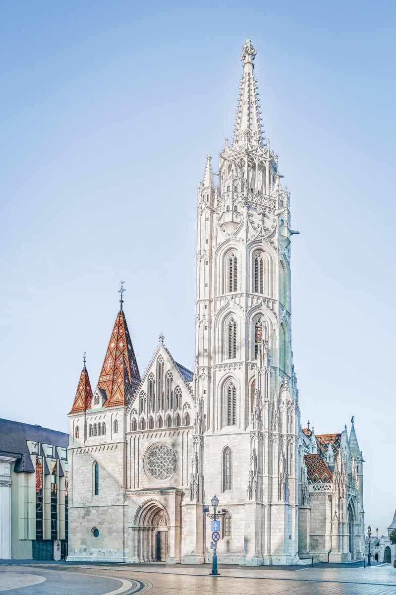 The eclectic exterior of the iconic Matthias Church in Budapest