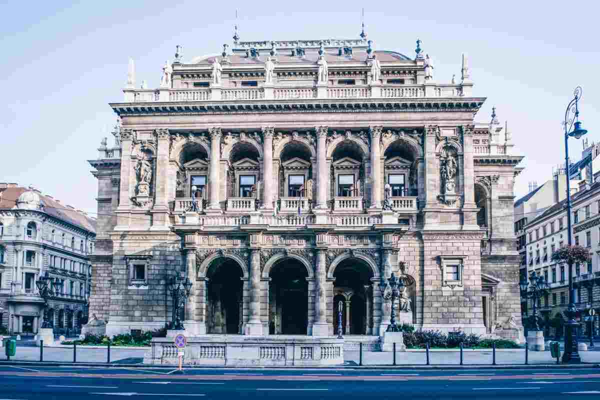 The splendid Neo-Renaissance building of the Hungarian State Opera in Budapest