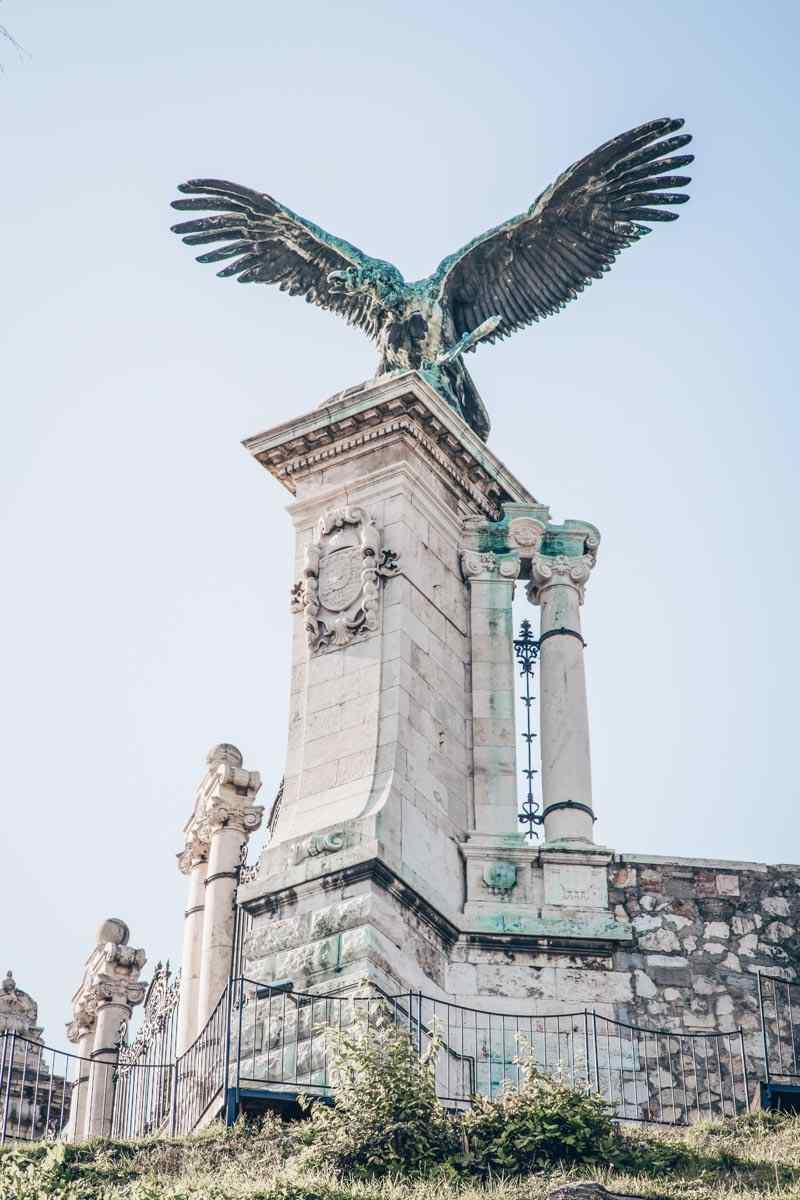 The humoungous Turul Bird Statue in Budapest