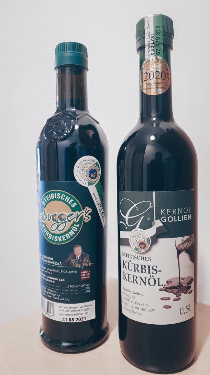 Das berühmte steirische Kürbiskernöl