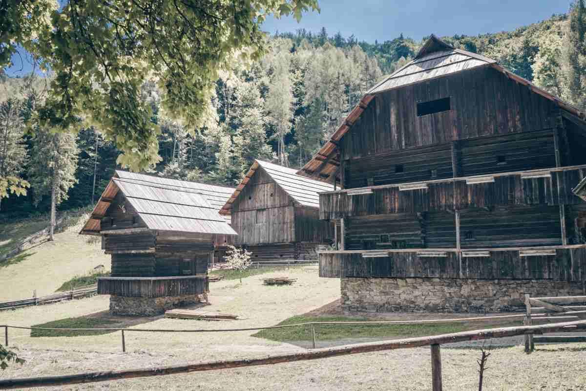 Bauernhöfe im Österreichischen Freilichtmuseum Stübing