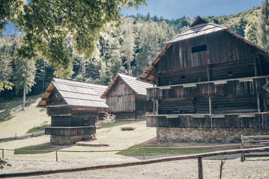 Farmsteads at the Austrian Open Air Museum Stübing