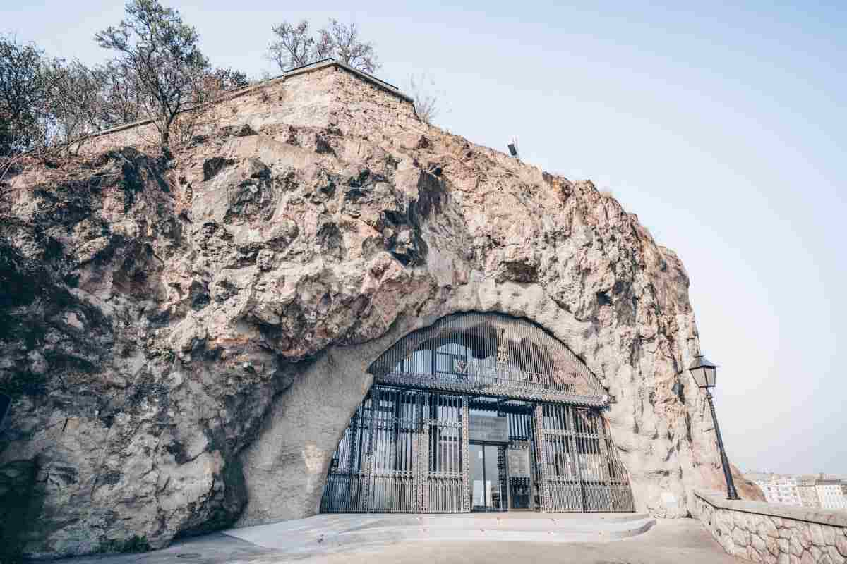 Must-see Budapest: Exterior of the Cave Church on Gellert Hill