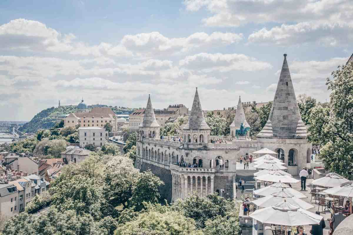 Budapest attractions: The impressive towers of the Fisherman's Bastion