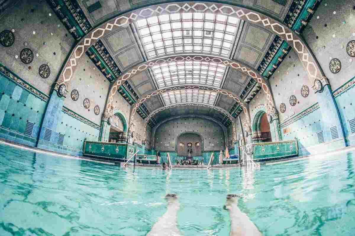 Budapest Thermal Baths: Beautiful Art Nouveau interiors of the Gellert Baths. PC: Wolverine6 - Dreamstime.com