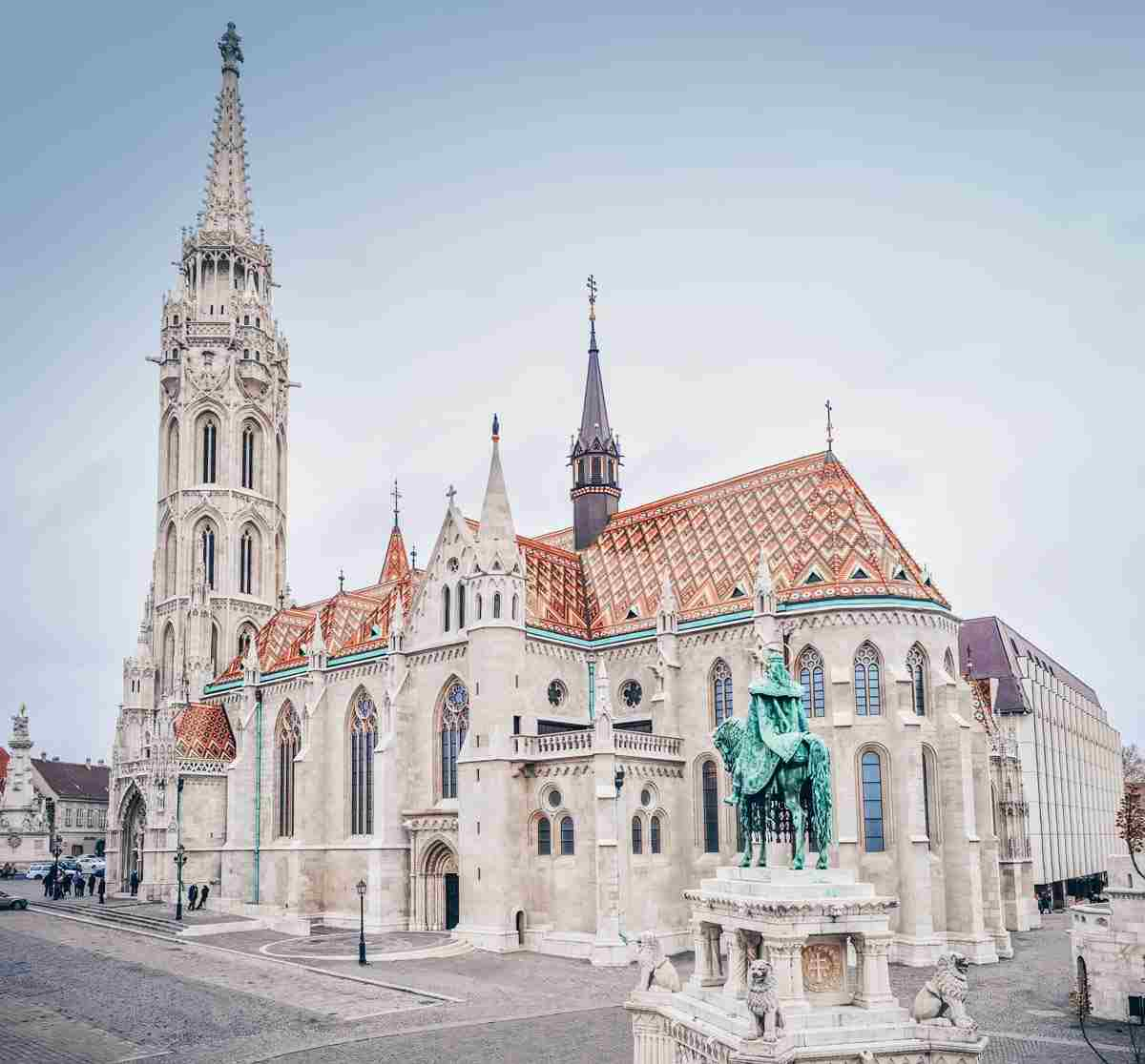 Budapest must-see sights: The eclectic architecture and famous tiled roof of the Matthias Church