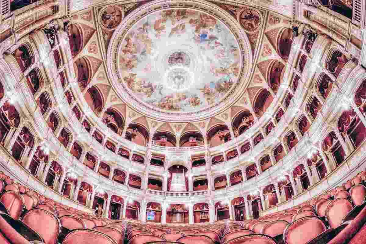 Budapest: The gilded, horseshoe-shaped, three-story auditorium of the Hungarian State Opera