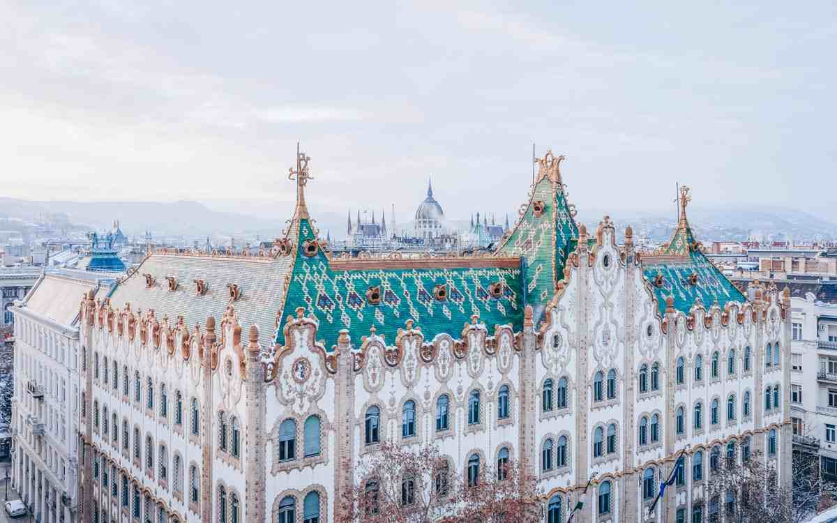 Budapest architecture: The incredibly gorgeous Art Nouveau-style façade of the Postal Savings Bank