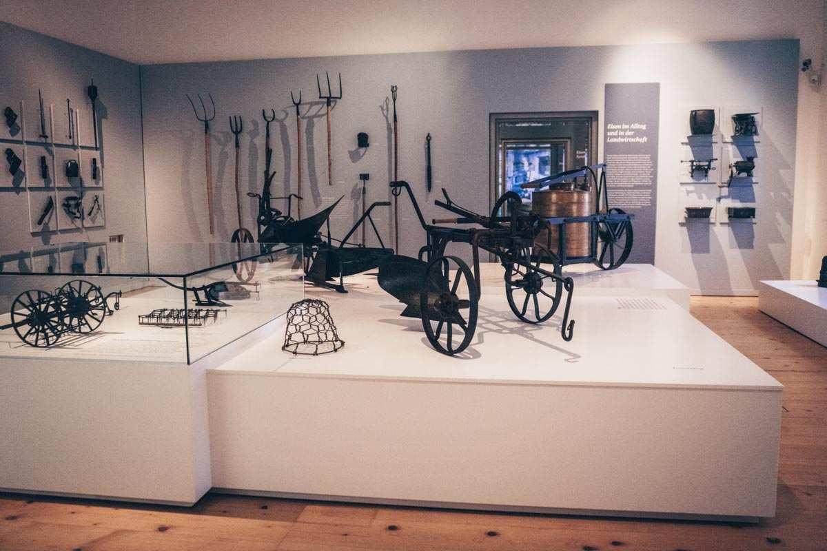 Steiermark Sehenswürdigkeiten: Die Sammlung des Landwirtschaftsmuseums in Schloss Stainz