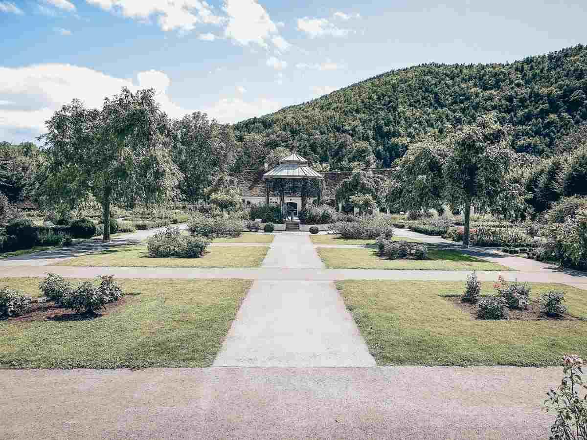 Steiermark Sehenswürdigkeiten: Die Schlossgarten des Schloss Herbersteins