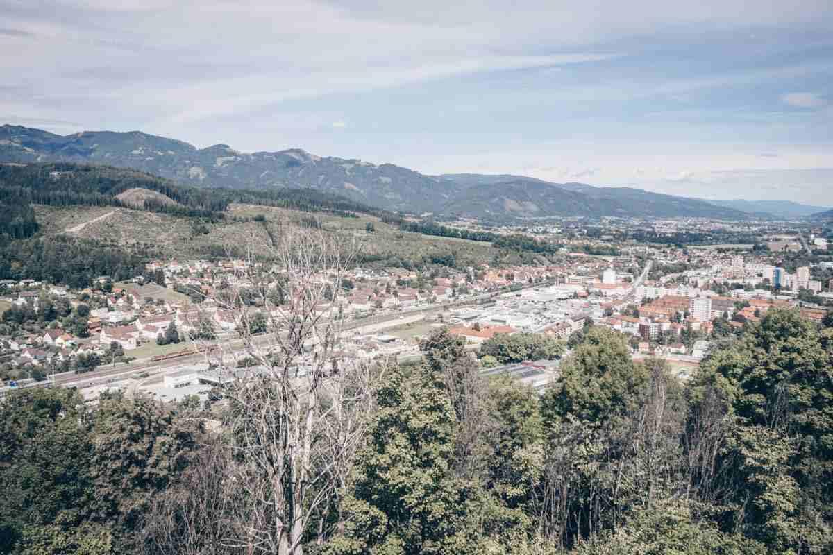 Steiermark Sehenswürdigkeiten: Einen schönen Blick auf Kapfenberg
