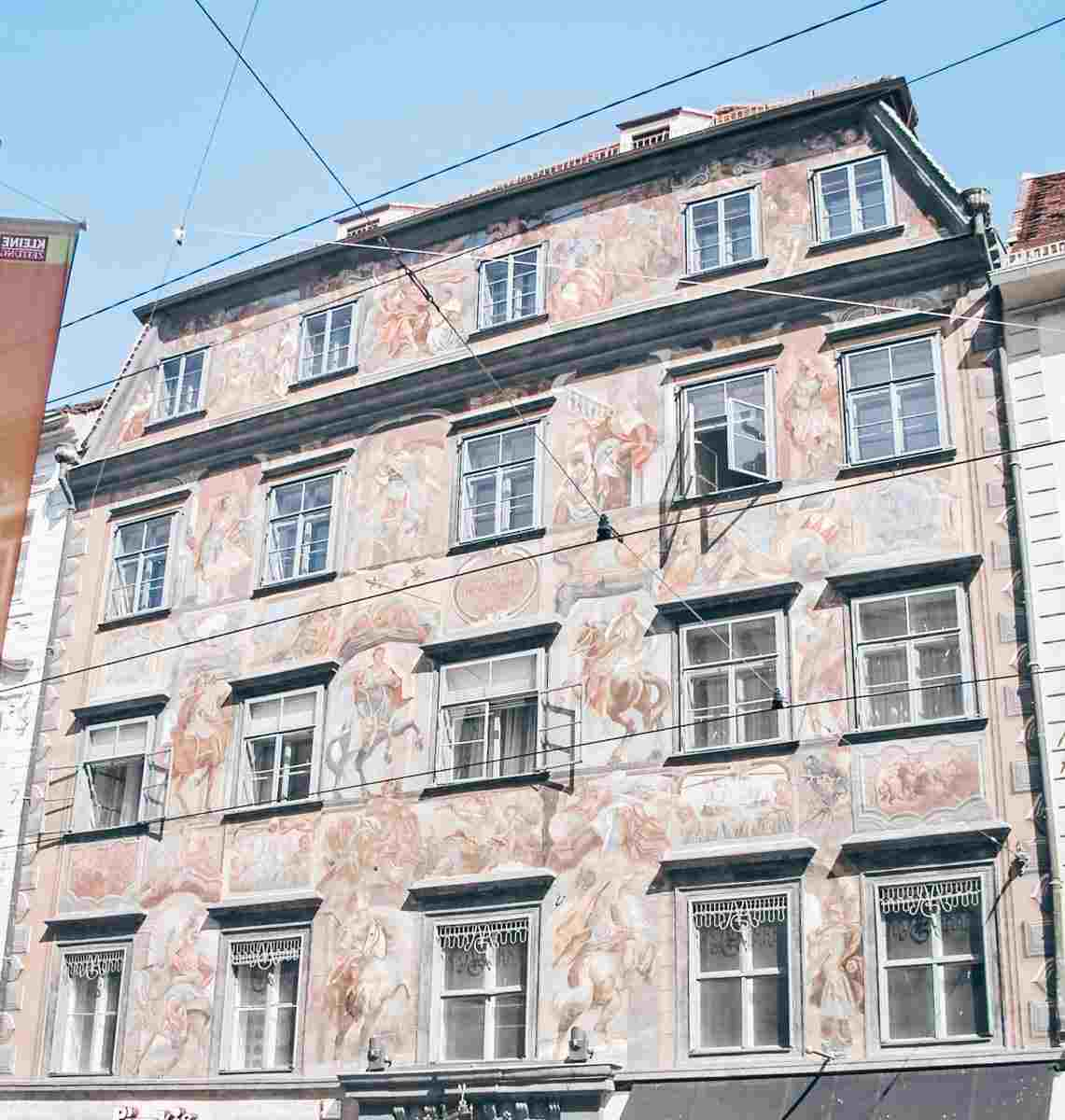 Gray Architecture: Colorful frescoes on the façade of the Painted  House